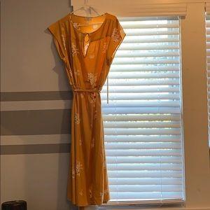 Loft Flowered Yellow XL Dress